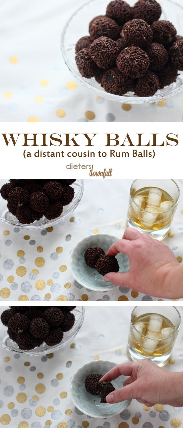 These little bite-sized whisky balls are packed full of chocolate and whisky. Take a bite!