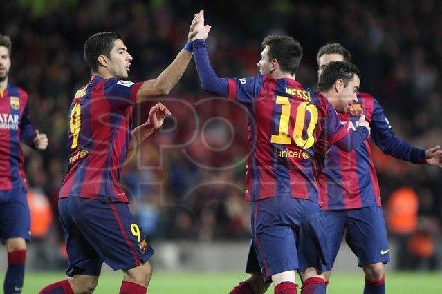 Suárez & Messi celebrando la anotación del Barca | Barça, 5 - Espanyol, 1