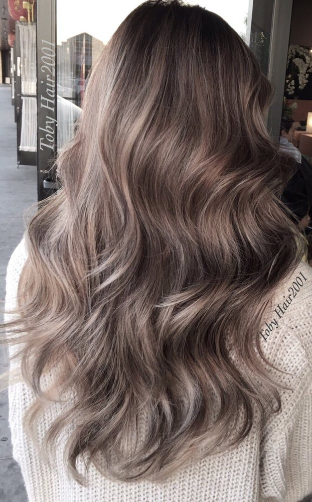 Photo of Hair 2001 - Westminster, CA, United States. Gorgeous ash blond on mocha base Asian balayage by Toby Hair2001