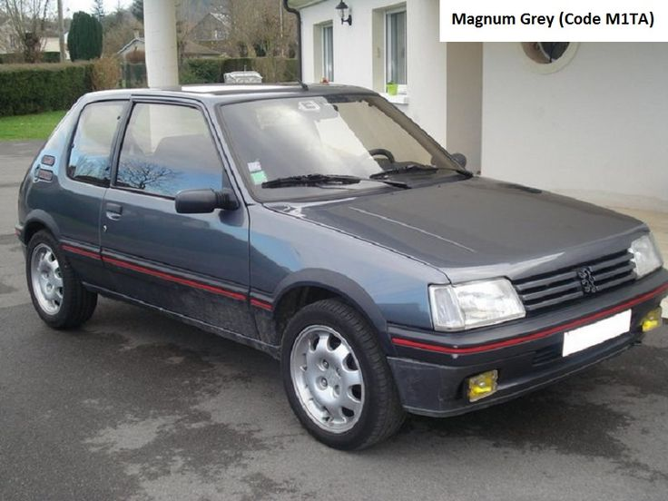 32 best Peugeot 205 GTI 1.9l Phase 1 images on Pinterest | Colored ...