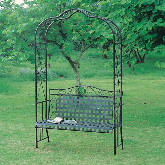 Wrought Iron Arbor Bench For The Home Pinterest