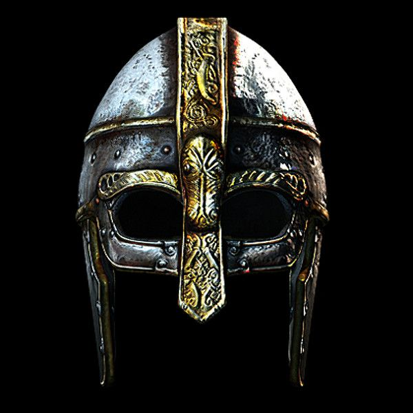 historically viking helmet 3d model - Viking Helmet... by ivanpxxx