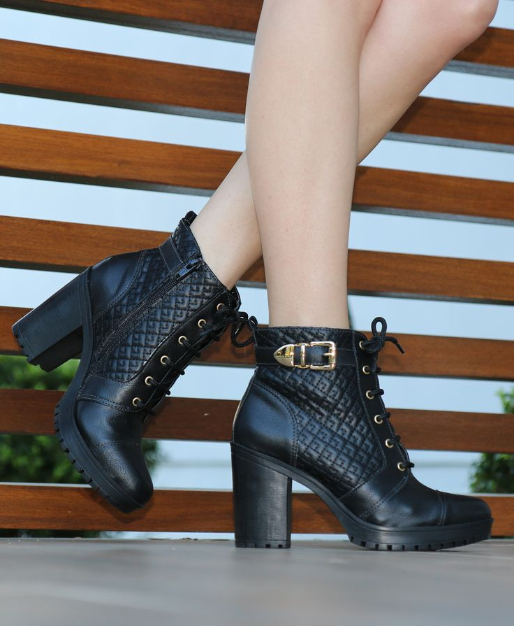 botas de cano curto - coturno de salto alto - winter heels - black - boots - Inverno 2015