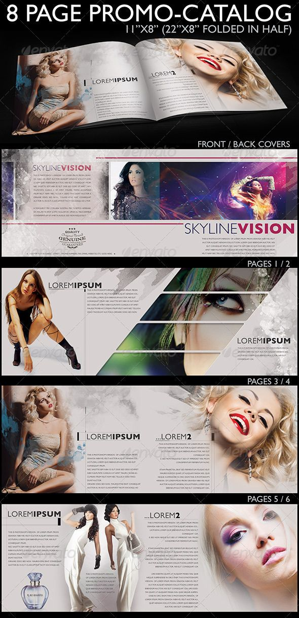10 best images about cosmetics brochure on pinterest for 8 page brochure template