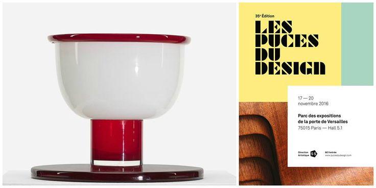 Another beautiful vase by #Sottsass  Schiavona Vase Ettore Sottsass Vistosi 1974 h cm 24 diam cm 30 limitd edition  #Vase #Vistosi #Paris LES PUCES DU DESIGN