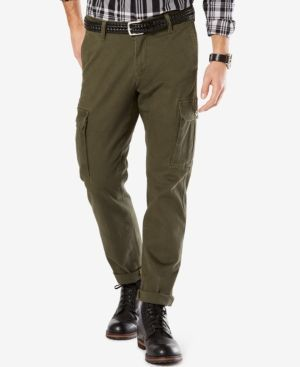 Dockers Athletic Fit Good Cargo Pants - Green 34x30