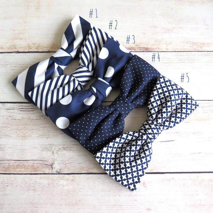 Navy Blue Mens Bow Tie, Stripy Bow Tie, Striped Bow Tie, Polka Dot Bow Tie, Navy Blue Wedding Bow Tie, Groom & Groomsmen Navy Blue Bow Tie by GloiberryBowtie on Etsy https://www.etsy.com/uk/listing/518540819/navy-blue-mens-bow-tie-stripy-bow-tie