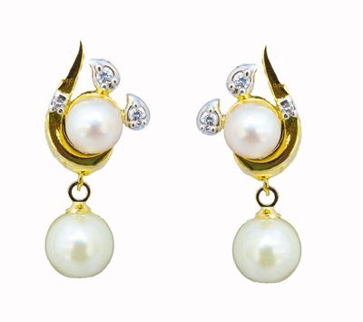 Classique Designer Jewellery Alloy Stud Earring  Women (WHITE) Necklaces and Necklace Sets on Shimply.com