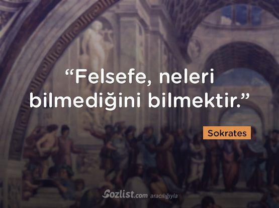 """""""Felsefe, neleri bilmediğini bilmektir."""" #sokrates #sözleri #filozof #felsefe #felsefi #kitap #anlamlı #sözler"""