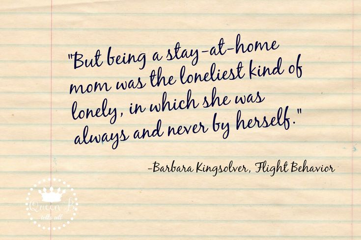 A must read for all stay-at-home moms!