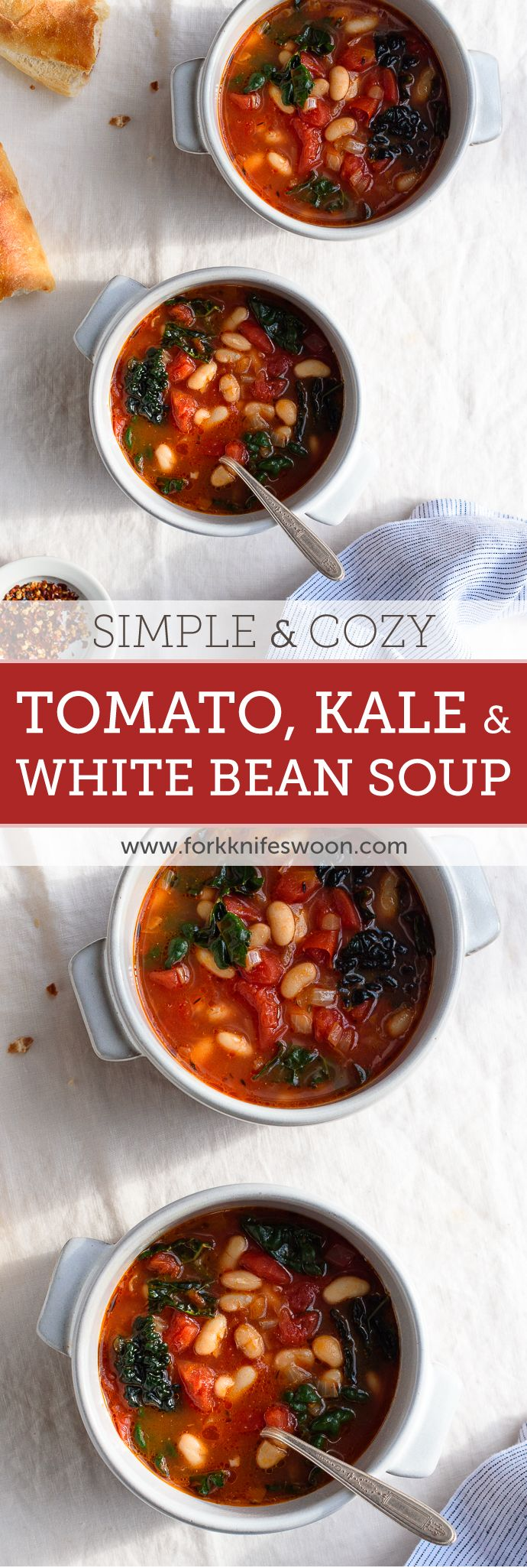 Tomato, Kale and White Bean Soup | Fork Knife Swoon @forkknifeswoon