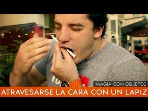 Como atravesarse la cara con un lápiz - truco de magia revelado - YouTube