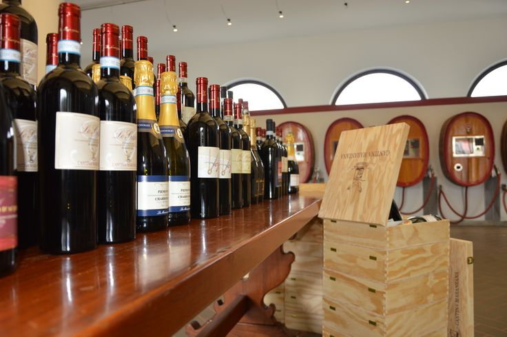 A large wine selection in our winery shop