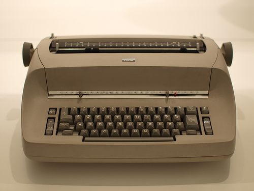 IBM Selectric....this thing was aMAzing back in the day... this is what I learned to type on!