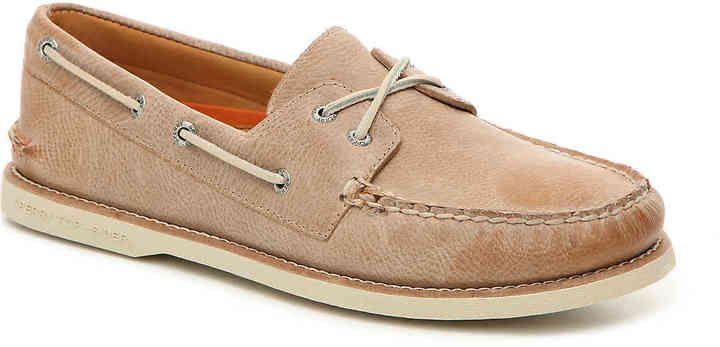 Sperry Men's Gold A/O Nubuck Boat Shoe -Beige