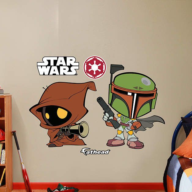 fathead star wars boba fett and jawa pop decal wall sticker outlet
