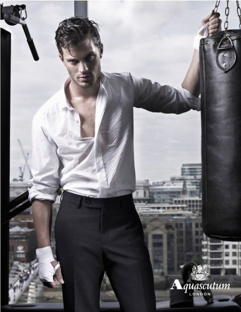 Man Candy Monday: Men in White (Gabriel Emerson and Christian Grey) | Bookish Temptations