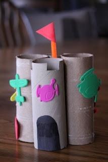 toilet paper rolls + felt scraps = castle