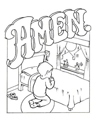 free Lord's prayer coloring pages