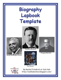 Free Biography Lapbook Template... could be easily modified for other subjects as well... subhubonline.blogspot.com