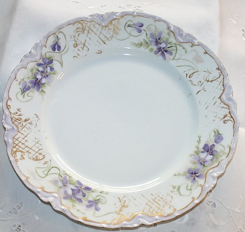 Antique French Handpainted Haviland Violets Plate  sc 1 st  Pinterest : french decorative plates - Pezcame.Com