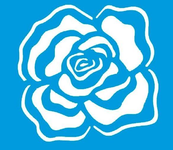 Stencil de Rosa 10 x 10cm - STX - 032                                                                                                                                                      Mais