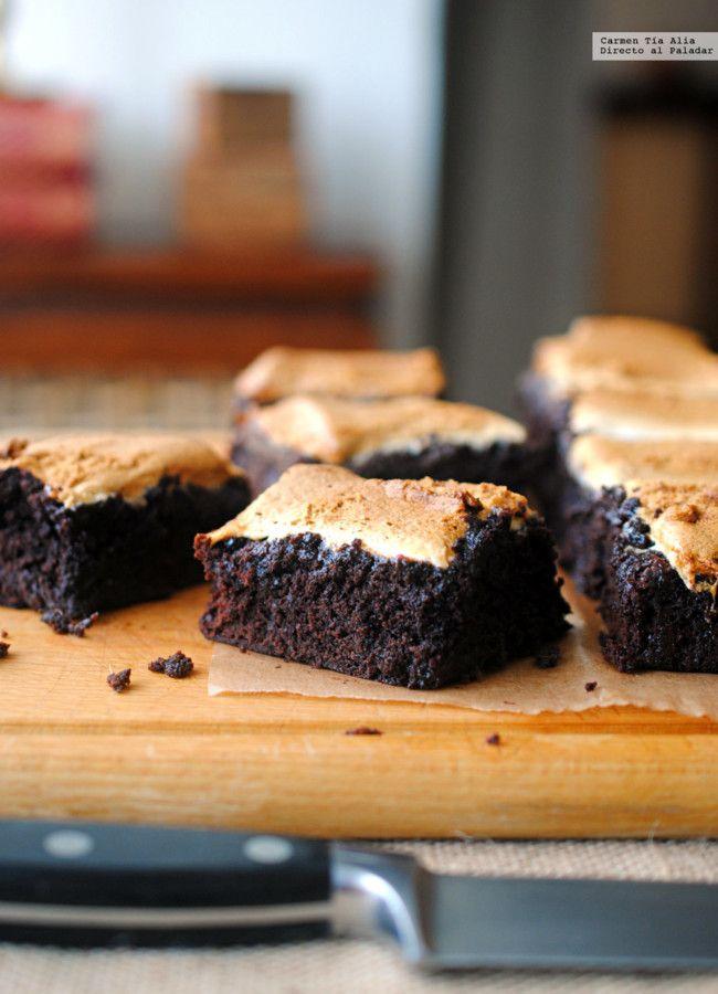 Brownie de cacao y marshmallows, la receta que querrás hacer una y otra vez