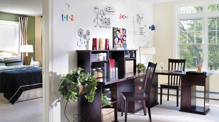 dry erase paint!: Ideas Paintings, Idea Paint, Whiteboard Paintings, Dry Erase Paintings, White Boards, Chalkboards Paintings, Home Offices, Ideapaint, Wall