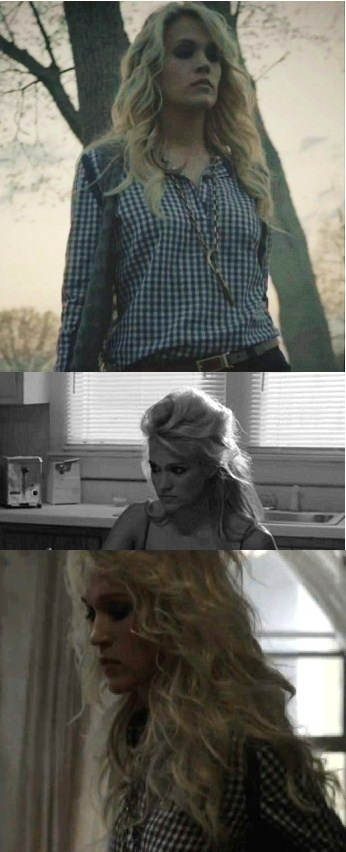 "Lovin' these hair looks from Carrie Underwood's ""Blown Away"". Like the middle one a lot"