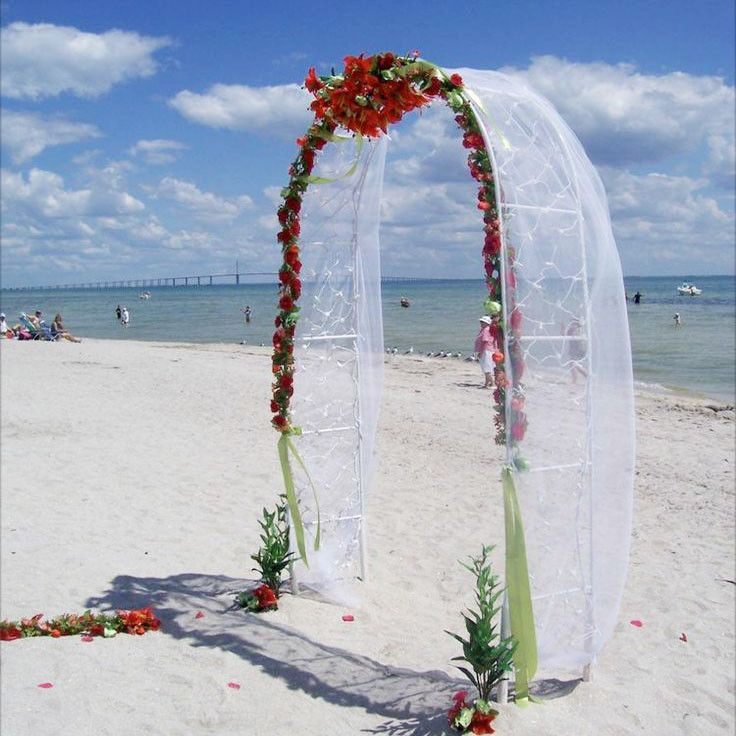 Wedding Arch Decorated With Tulle: 25+ Best Ideas About Wedding Arch Tulle On Pinterest