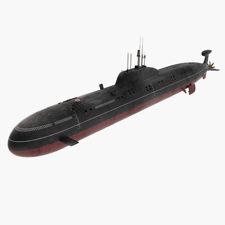 akula class submarine 3d model