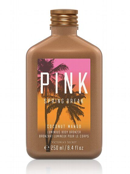 Spring Break Coconut Mango Luminous Body Bronzer - PINK - Victoria's Secret wanting this extremely bad #birthday gift????