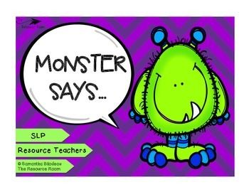 Free! Monster Says... (Following Directions & Working Memory)