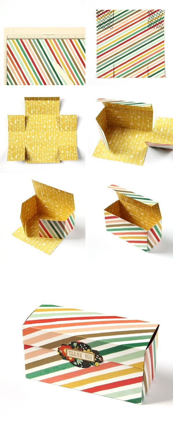 EASY DIY GIFT BOX MADE USING ONE SHEET OF PAPER.                                                                                                                                                      More