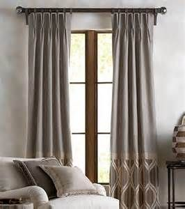 Tone On Tone Pinch Pleat Drapes With Patterned Bottom Band Oliver Scott Interiors Pinterest