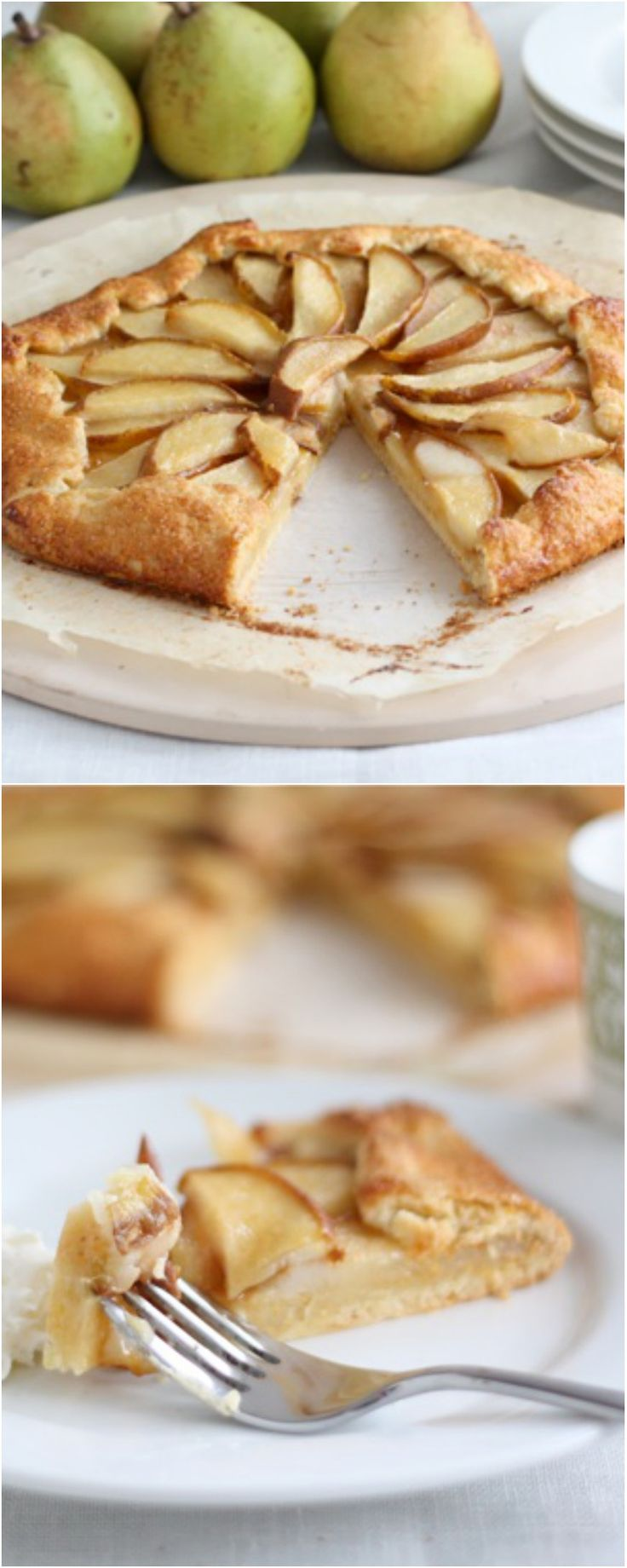 Easy Pear Galette Recipe on twopeasandtheirpod.com A great dessert for fall!