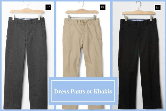 DO: Black, dark grey, navy blue or neutral tone khakis would work in place of dress pants for appropriate funeral attire for boys. #loveliveson