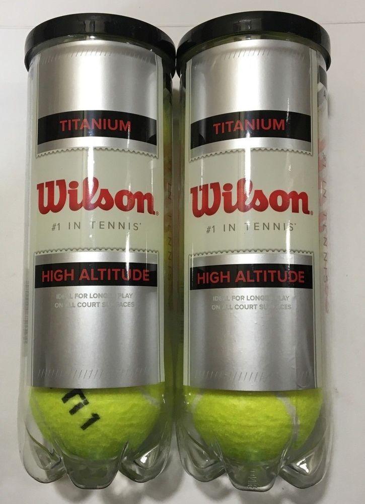 Pre Holiday Sale New Unsealed 2pak Wilson Titanium High Altitude Tennis Balls Wilson
