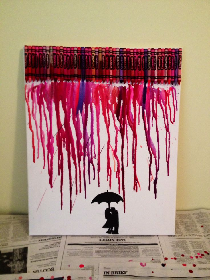 Crayon art... good for something to do on a crappy day! Don't think I did thaaaat bad of a job