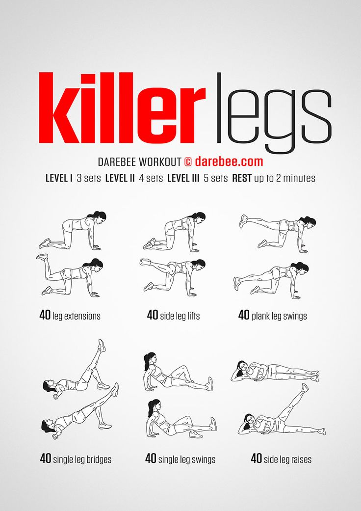 Killer Legs Workout by DAREBEE #darebee #workout #fitness #legs