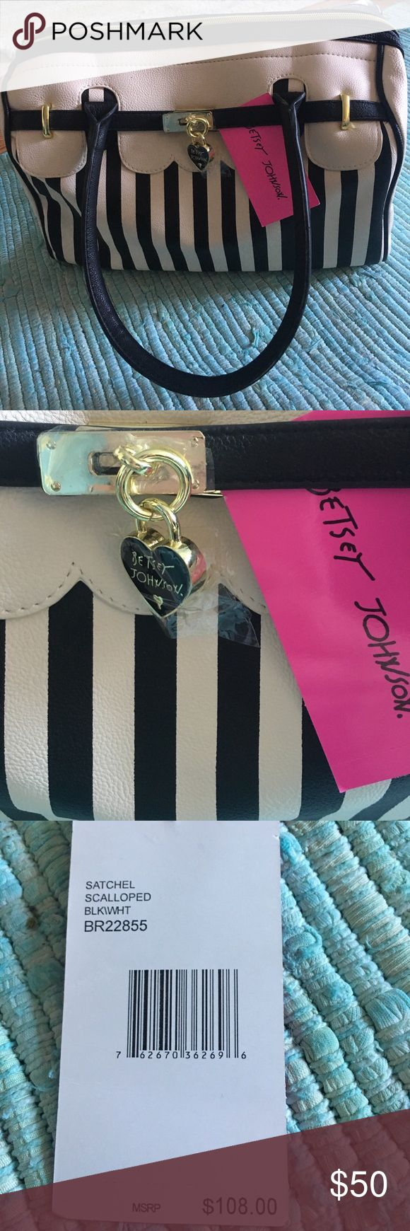Betsy Johnson NWT striped purse Super cute, striped and scalloped. Never carried! NWT. Bundle for a great deal or submit an offer! 🌻 Betsey Johnson Bags Shoulder Bags