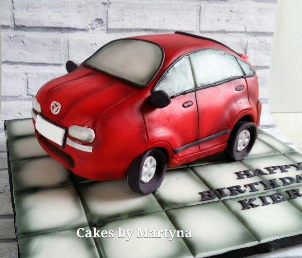 Car cake airbrushed