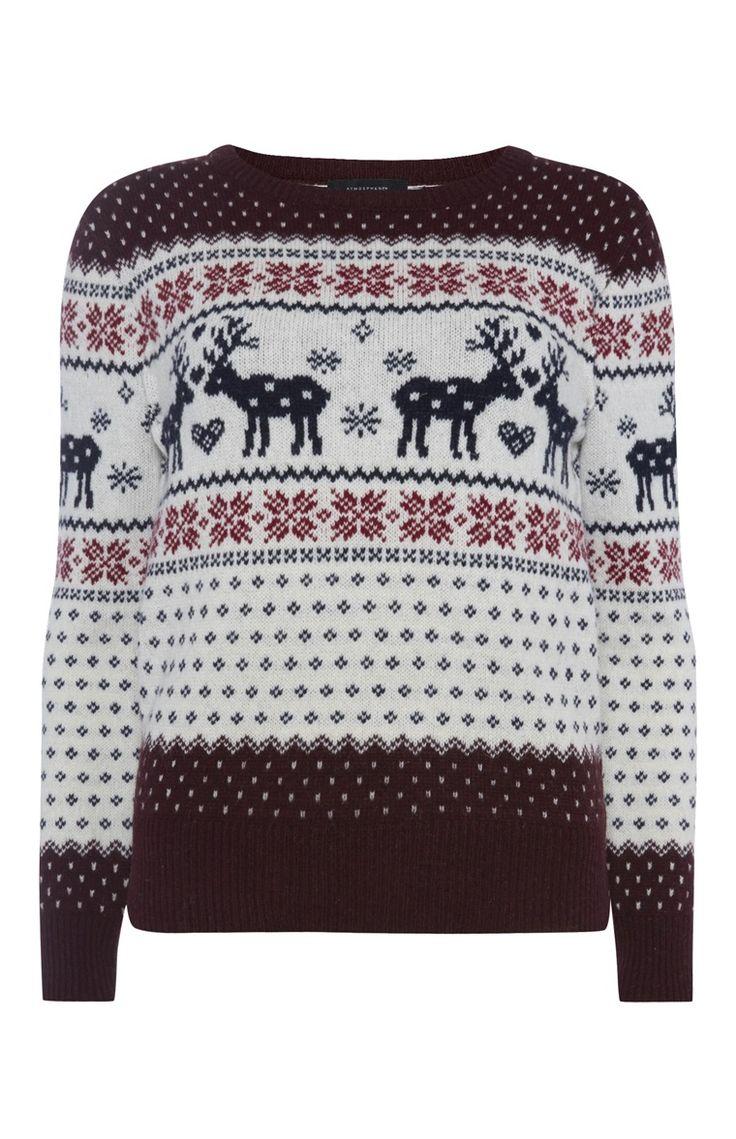 Primark - Reindeer Fairisle Christmas Jumper