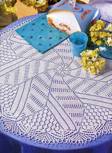 Kira knitting: Scheme knitted tablecloths 38