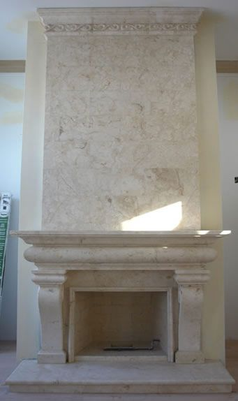 Fireplace Overmantel - Marble Over Manels - Cast Stone Surrounds - Limestone Upper Mantels