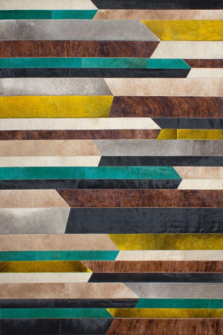 QUINTON Carpet - Bright and natural colors - 100% leather #sergelesage