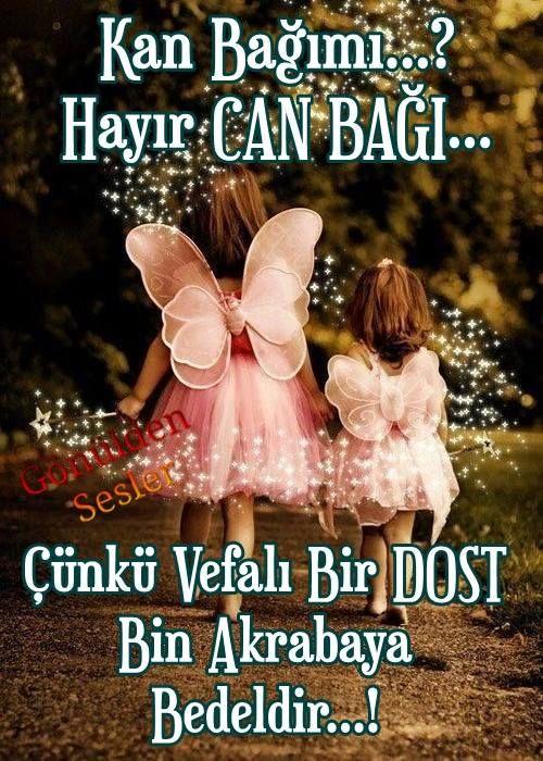 Kan bağı mı? Hayır can bağı... Çünkü vefalı bir dost bin akrabaya bedeldir. #dostluk kelebek kizlar asa isik akraba vefa