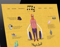 My Studio - Interactive Web Design with Infographics