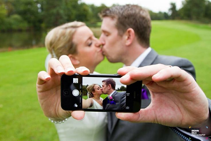 Bride & Groom wedding selfie... I want to do this with our guests right after our first kiss!