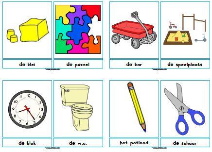 Woordkaarten school met lidwoord » Juf Sanne